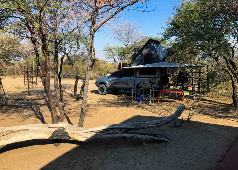 Camping at Palm Afrique Lodge